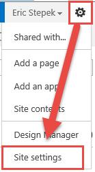 Site Setting menu
