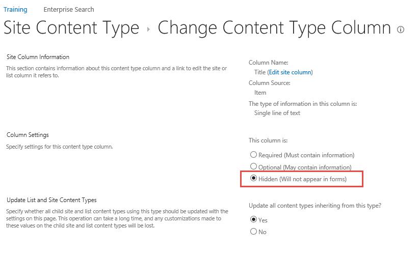 Change Content Type